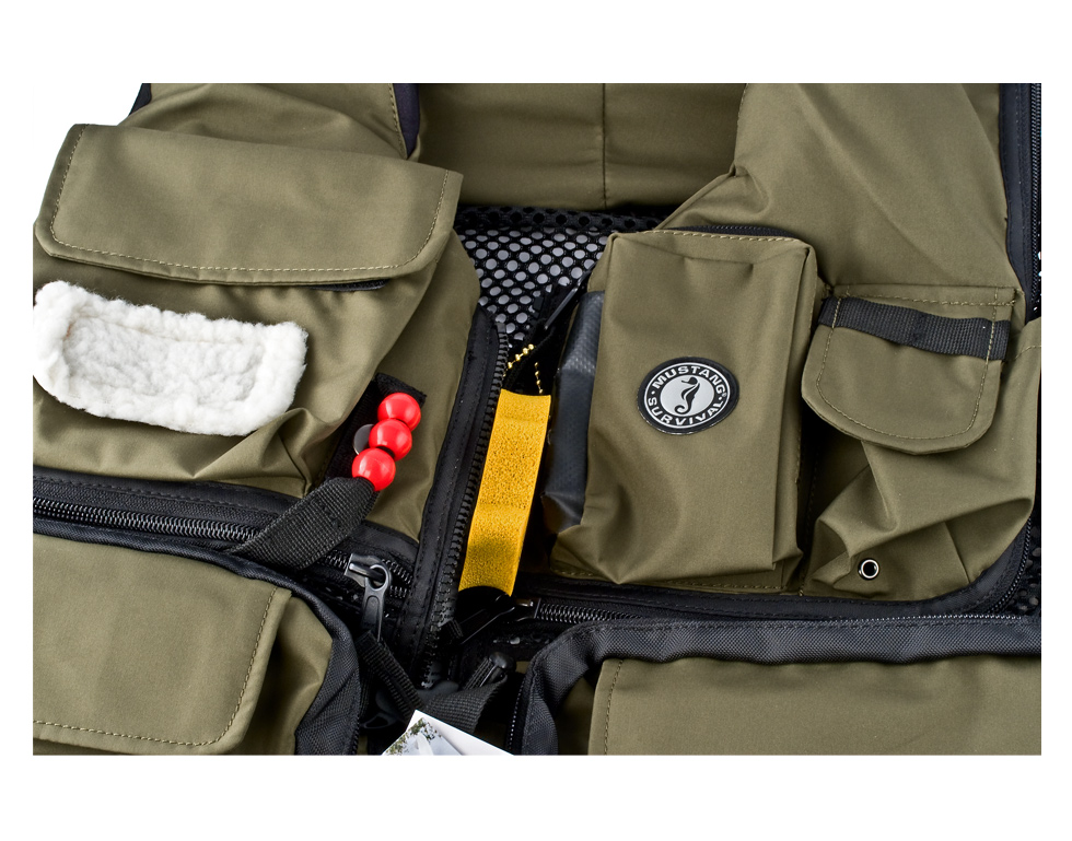 Mustang f3 inflatable fishing vest photos for Inflatable fishing vest