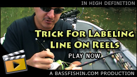Labeling Fishing Line On Reels